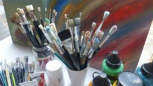 Pinsel-Farbe Kunst als Sprache GRUNDTVIG