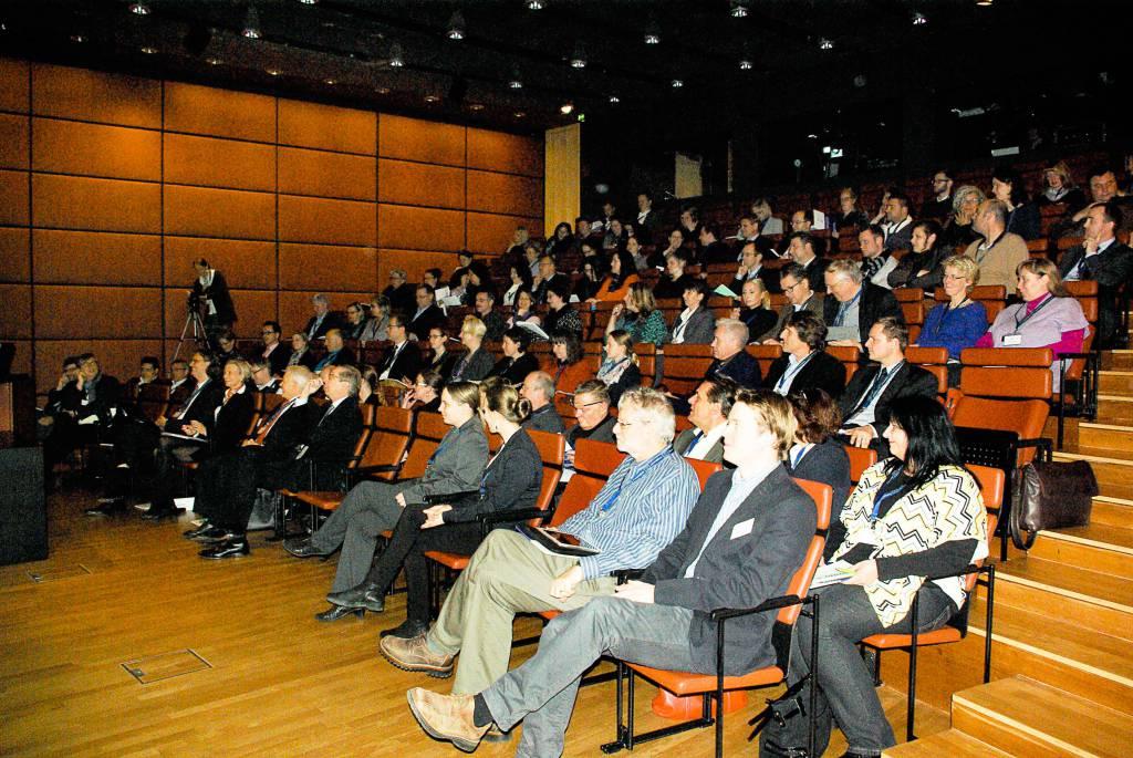 Teilnehmer der Jahresveranstaltung im Auditorium