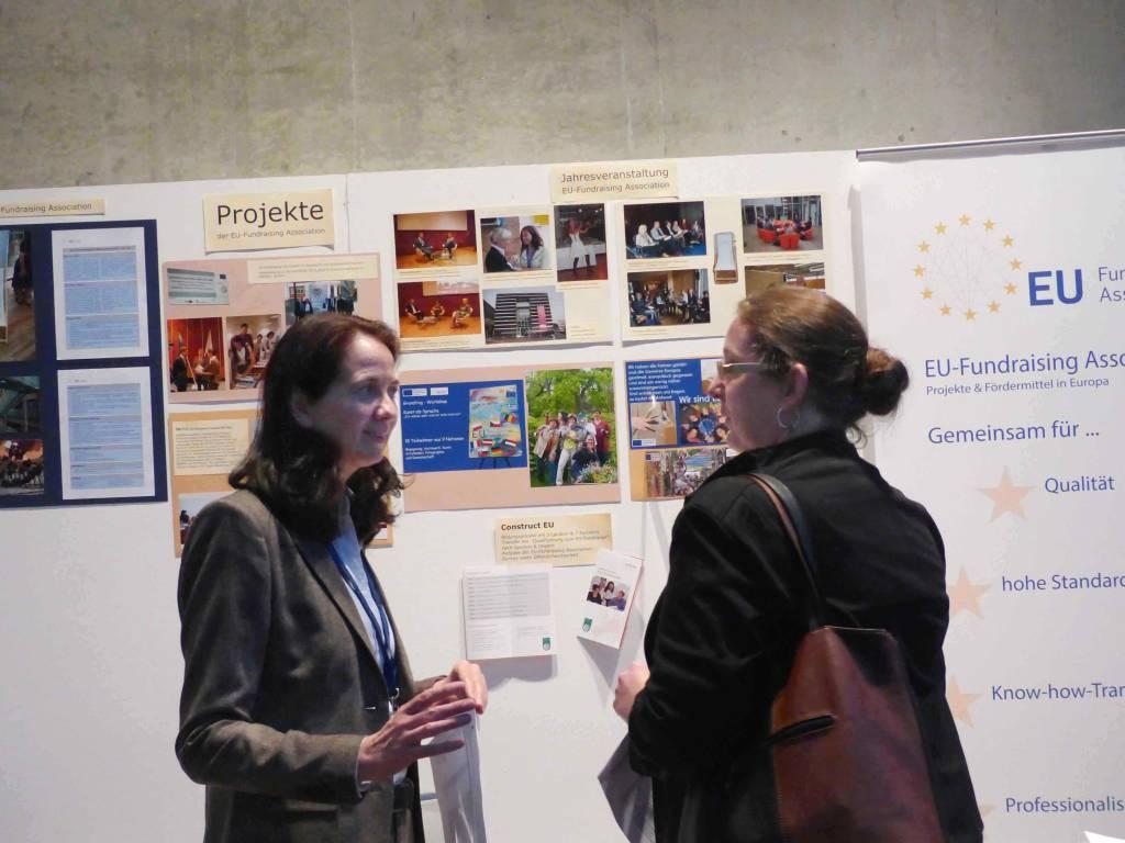 Frau Heike Kraack-Tichy von der EU-Fundraising Association im Gespräch